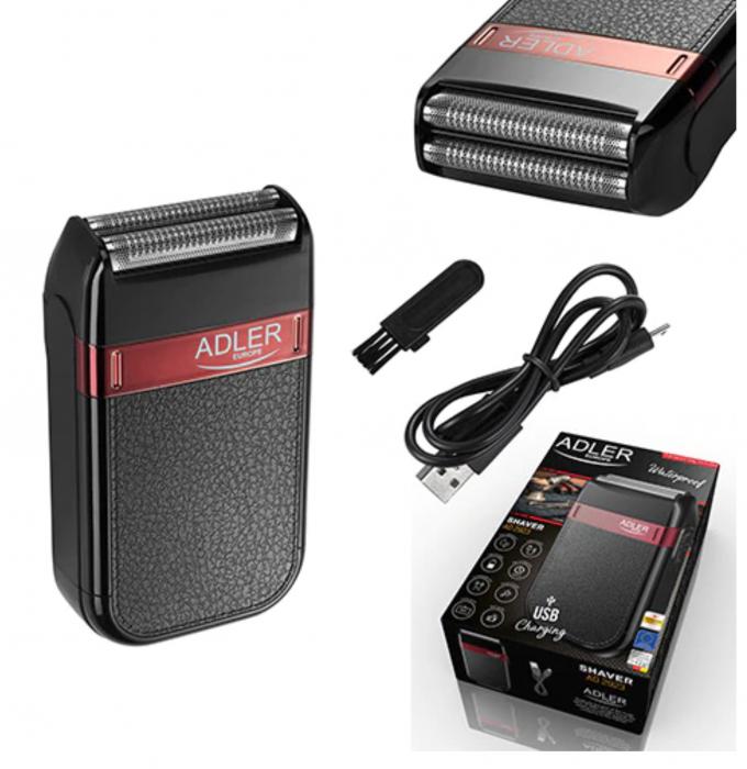 AD2923, Mini aparat de ras electric fara fir ADLER, umed sau uscat, autonomie 45 minute, rezistent la apa [4]