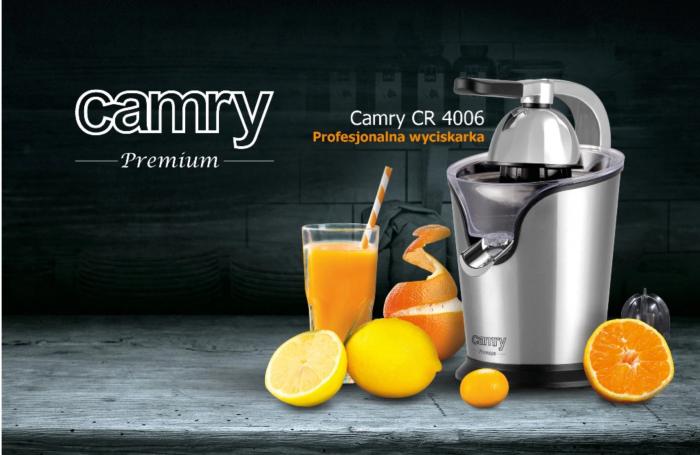 CR4006 Storcator profesional de citrice Camry, 500 W, Doua prese, Inox [9]