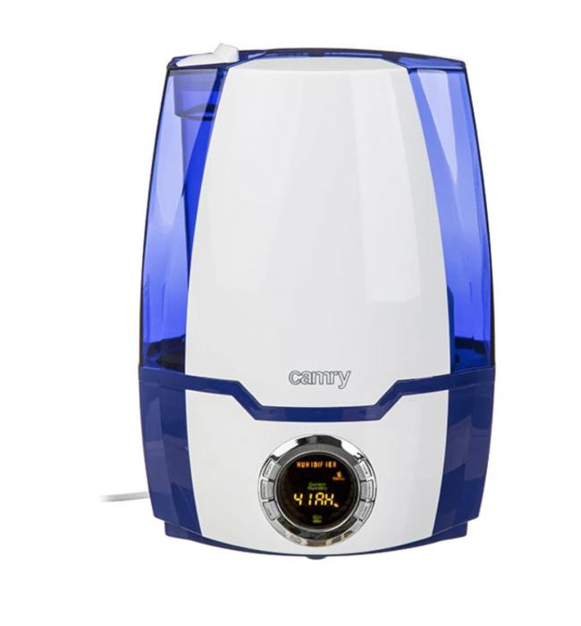 CR7952, Umidificator de aer cu ultrasunete Camry, 5.2 l, Ionizare, Timer, 25m2, 17 h, Alb-albastru [0]