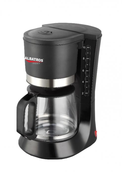 Cafetiera Albatros 680 W, 1.2 l, capacitate 10 cesti, functie antipicurare, negru [0]