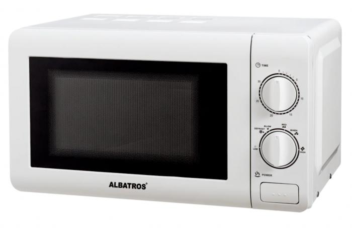 Cuptor cu microunde Albatros MWA-20MC3, 20 l, 700 W, Timer, Alb [0]