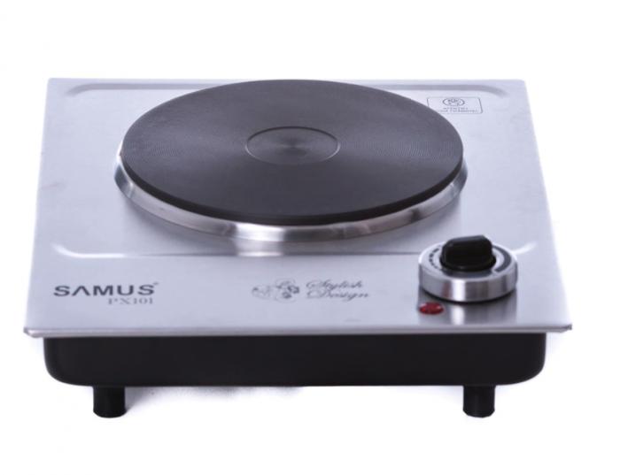 Plita electrica Samus PX101, 1 arzator, Control mecanic, Putere 1500 W, Inox [0]