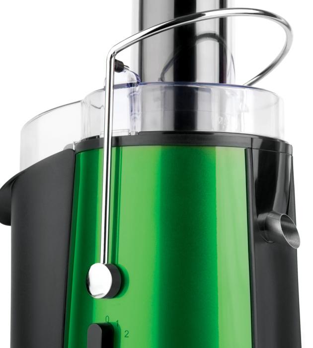 Storcator de fructe si legume Heinner XF-1000GRSP, 1000 W, Recipient suc 1 l, Recipient pulpa 2 l, 2 Viteze, Tub de alimentare 75 mm, Verde Metalic [2]