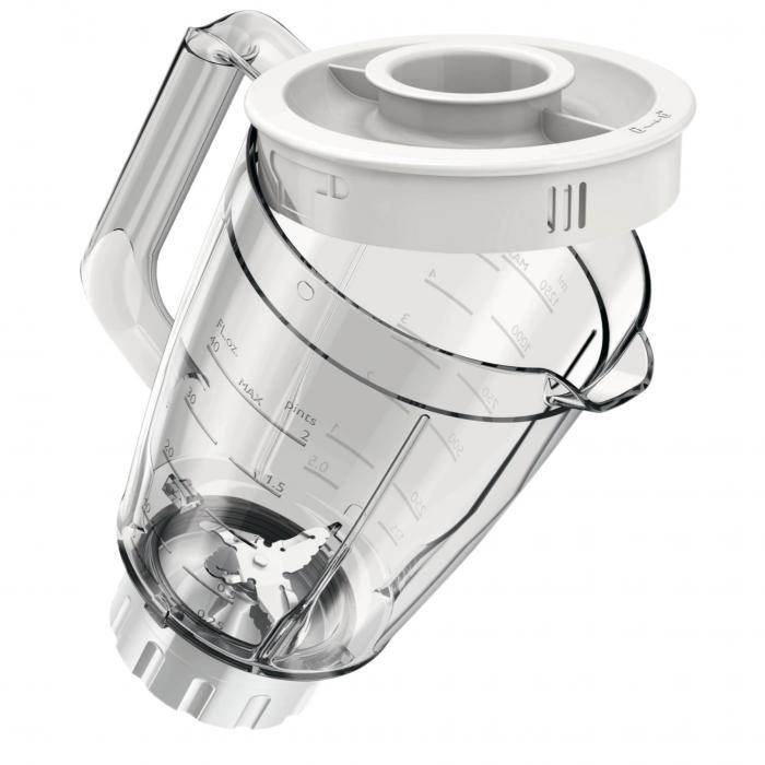 Blender Philips Daily Collection HR2105/00, 400 W, 1.25 l, 2 Viteze, Functie impuls, Alb [4]