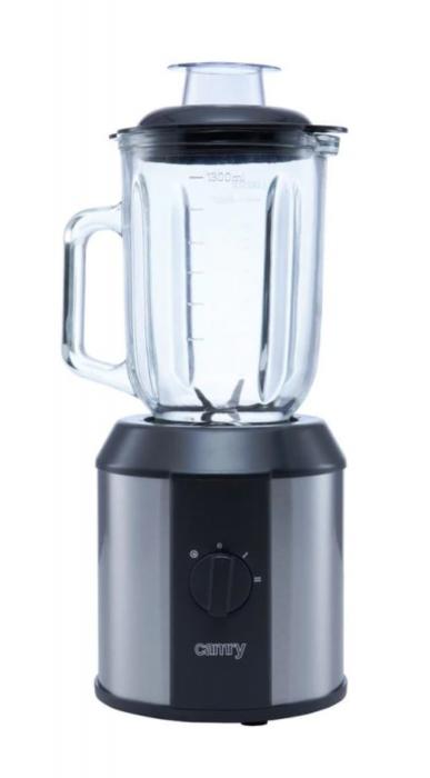 Blender profesional Camry CR 4058, 1500 W, 1.3 l, Sticla, Rasnita, Negru/Gri [3]