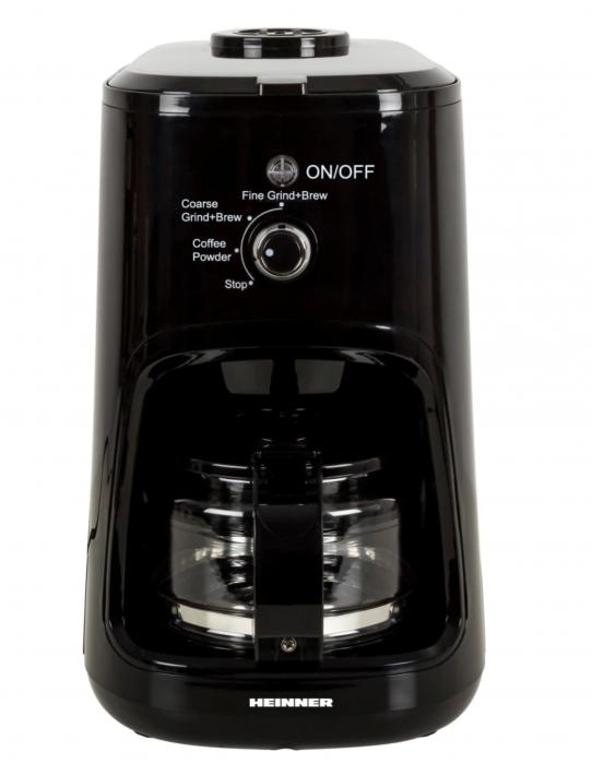 Cafetiera Heinner HCM-900RBK, 900 W, Rasnita incorporata, 0.6 L, Negru [0]