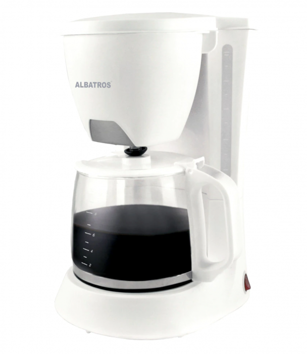 Cafetiera Albatros Verona White 2, 680 W, 1,2 litri, Alb [0]
