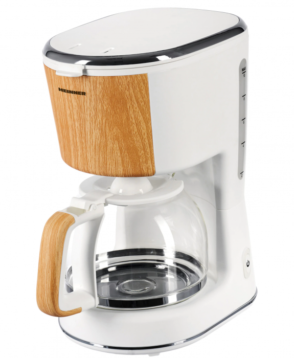 Cafetiera Heinner HCM-WH900BB, 900 W, 1.25 L, filtru detasabil, anti-picurare, oprire automata, Alb [0]