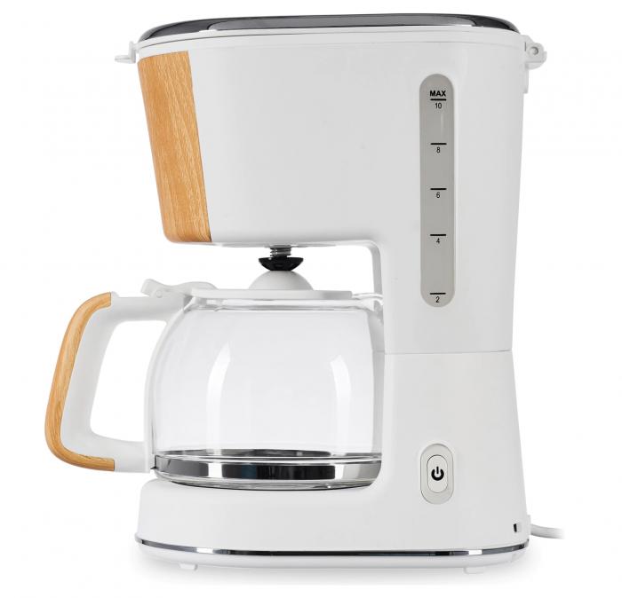 Cafetiera Heinner HCM-WH900BB, 900 W, 1.25 L, filtru detasabil, anti-picurare, oprire automata, Alb [2]