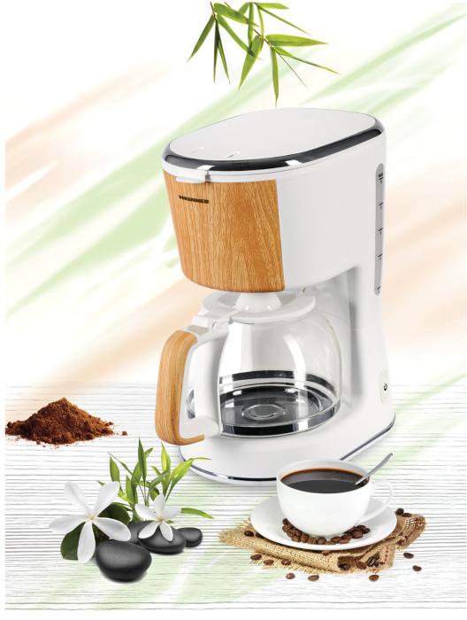 Cafetiera Heinner HCM-WH900BB, 900 W, 1.25 L, filtru detasabil, anti-picurare, oprire automata, Alb [3]
