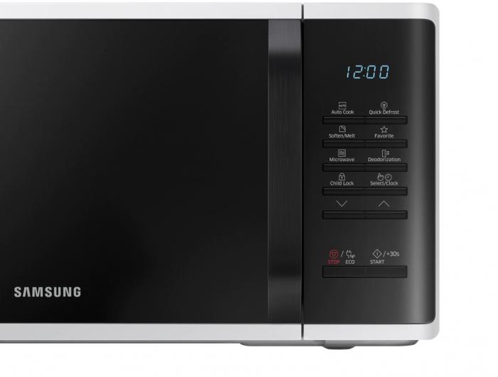Cuptor cu microunde Samsung MS23K3513AW/OL, 23 l, 800 W, Digital, Touch control, Alb [8]