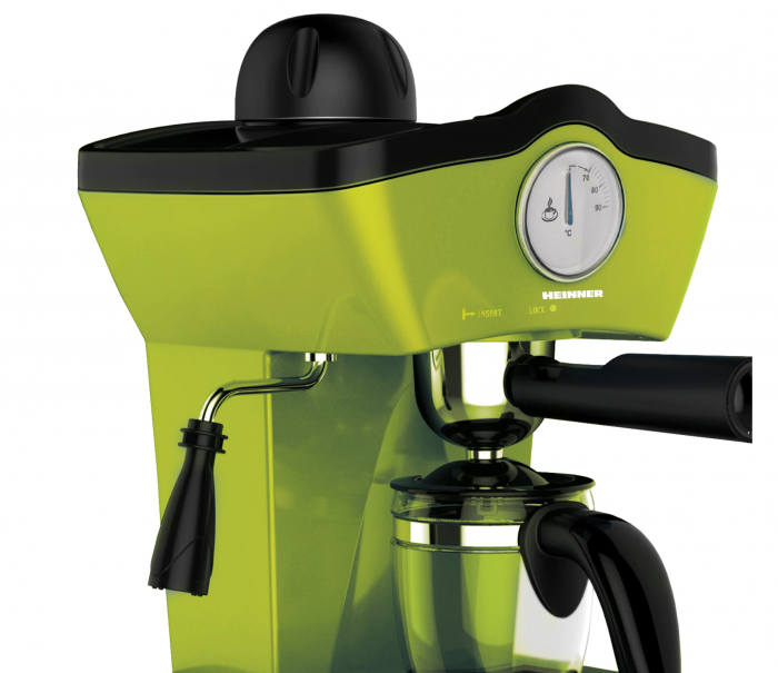 Espressor manual Heinner Charm HEM-200GR, 800W, 250ml, 3.5 bar, Verde [2]