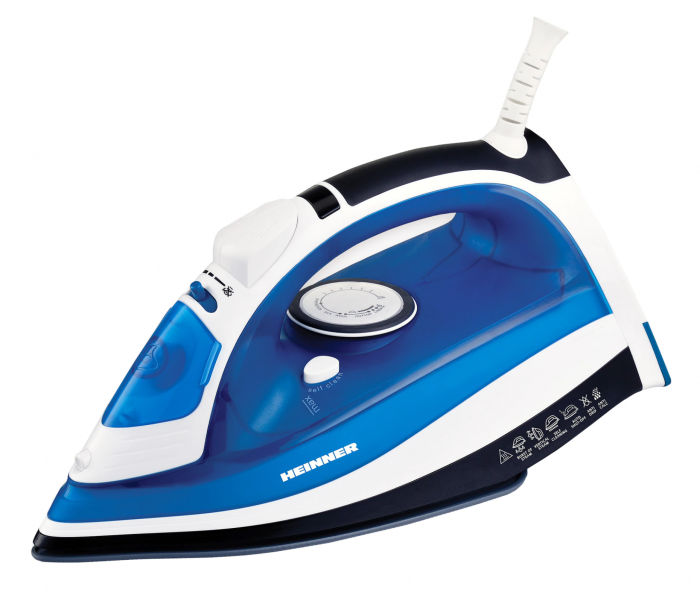 Fier de calcat Heinner Azuritte HSI-2400AZ, 2400 W, Talpa ceramica, Auto-oprire, Albastru [0]