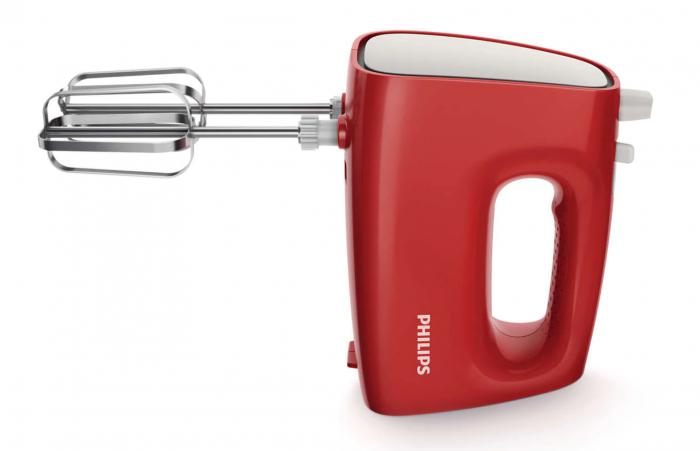 Mixer de mana Philips HR1552/12, 250 W, 5 viteze, Functie Turbo, Rosu [1]