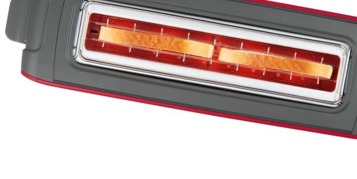 Prajitor de paine Bosch TAT6A004, long slot, 1090W, 2 felii de paine, Rosu [7]