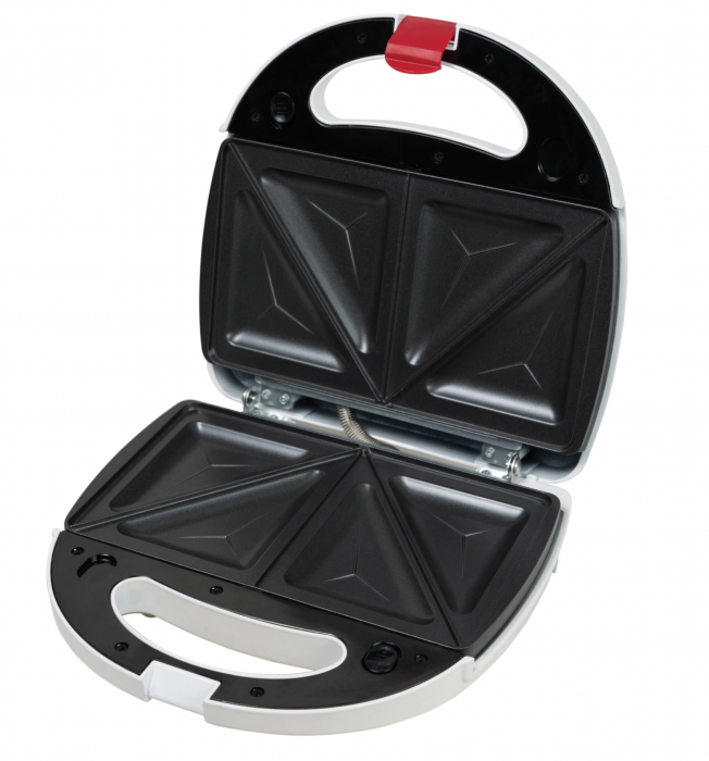 Sandwich maker Heinner Jadde 750 SM-2K750WH, 750W, plite detasabile, invelis antiaderent, capacitate: 2 sandwich-uri, Alb [1]