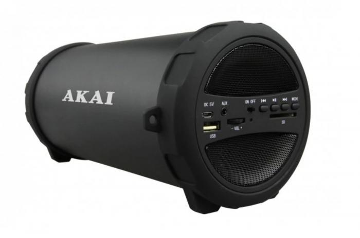Boxa portabila Akai ABTS-12C, radio FM, karaoke, negru [1]