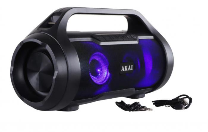 Boxa Portabila, Bluetooth, rezistenta la apa AKAI ABTS-50 , Radio FM , USB ,SD card [4]
