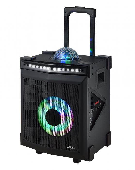 Boxa portabila Akai ABTS-80, discoball, Karaoke, negru [0]