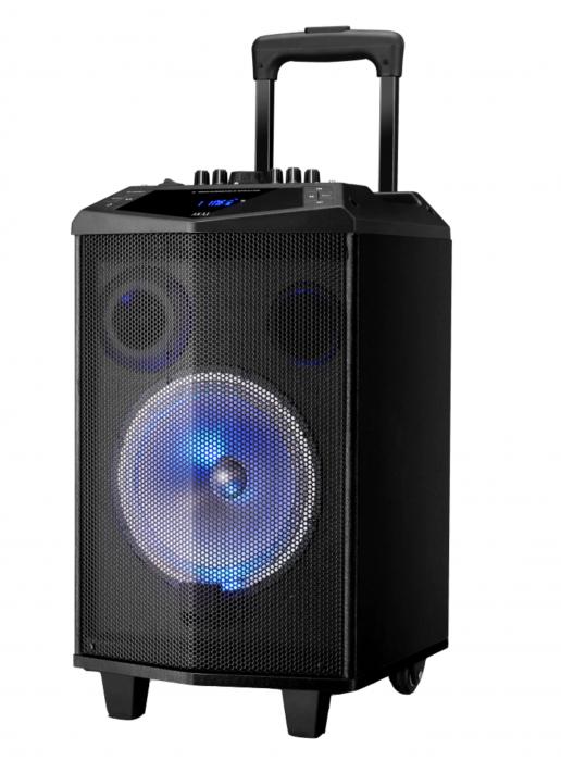 Boxa portabila Akai ABTS-DK15 cu BT, lumini disco, functie inregistrare, microfon [0]
