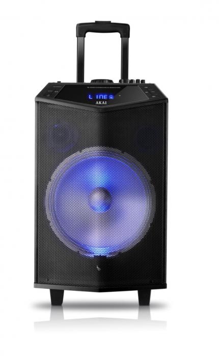 Boxa portabila Akai ABTS-DK15 cu BT, lumini disco, functie inregistrare, microfon [2]