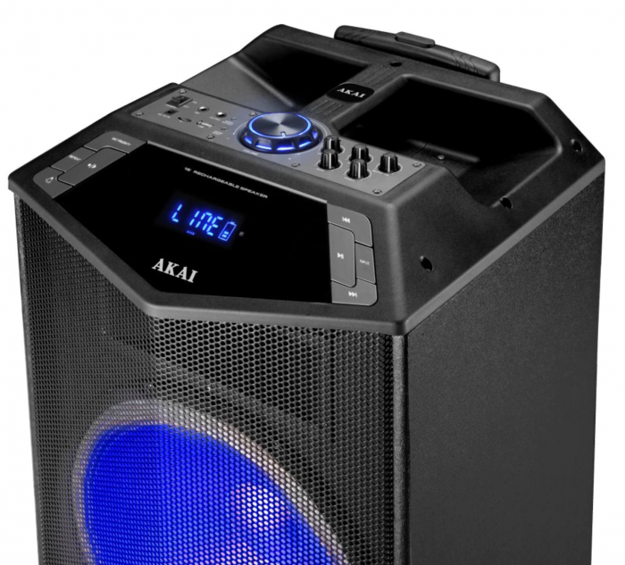 Boxa portabila Akai ABTS-DK15 cu BT, lumini disco, functie inregistrare, microfon [3]