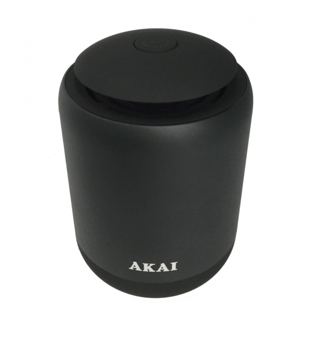 Boxa portabila Akai ABTS-S4 cu BT, lumina led albastra, carcasa aluminiu, Negru [0]