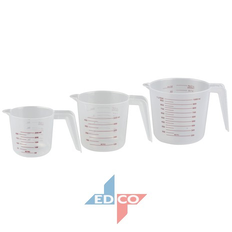 Set 3 recipiente masura /plastic/250ml /500 mL/1 L 0