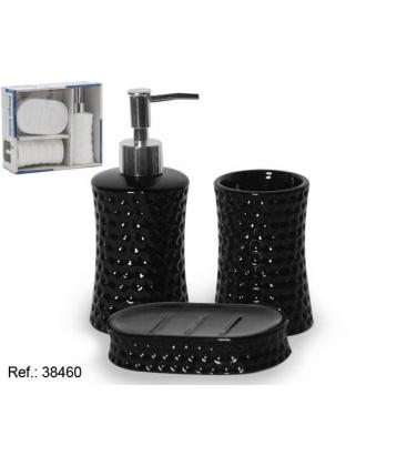 38460  Set accesorii baie 3buc negru 0