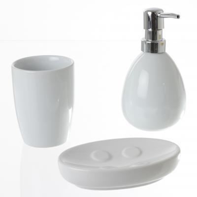 Set baie ceramic 3 buc , alb 0