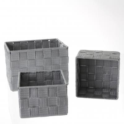Set cutii rectangulare 3 buc , gri 0