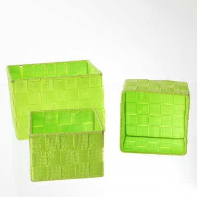 Set cutii rectangulare 3 buc , verde, polyester 0
