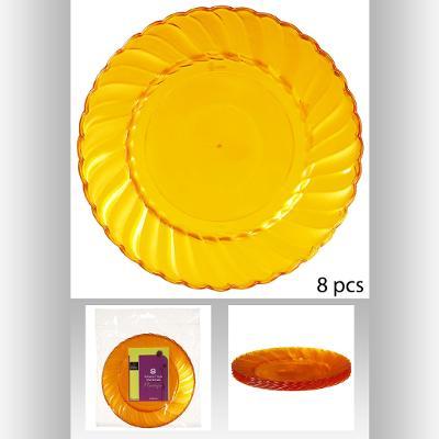 118867E  Set farfurie *8 portocaliu 0