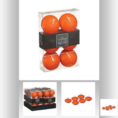 Set lumanare plutitoare x 6 portocaliu 0
