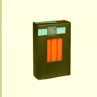Set lumanare portocaliu *10 buc 16*2.1cm 0