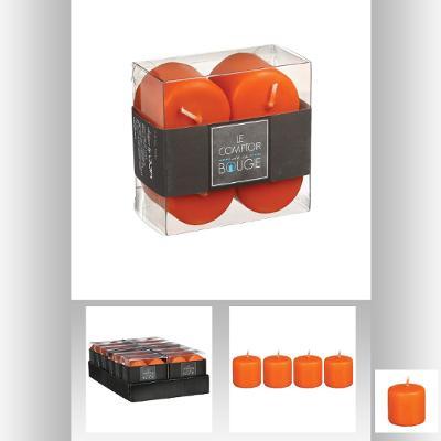 Set lumanare portocaliu 3.5x3.9 cm 0