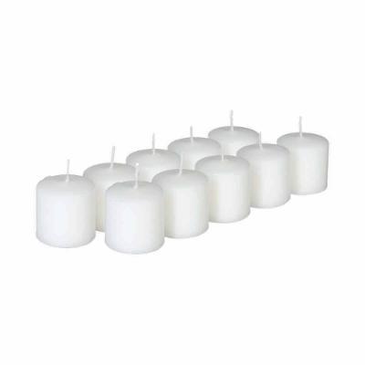 Set lumanare X10 buc alb , 3.8x 3.8 cm [0]
