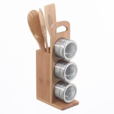 111530  Suport accesorii bucatarie bambus 0