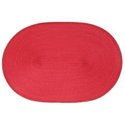 108121E  Suport pentru farfurii oval rosu 0