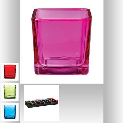 110386  Suport lumanare sticla color 0