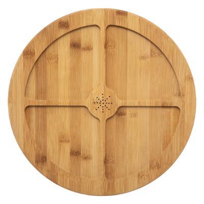 Tava rotunda din bambus, 4 compatrimente, D35.5 cm JJA 154235 1