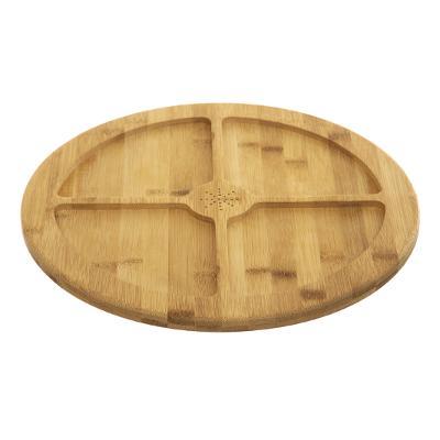 Tava rotunda din bambus, 4 compatrimente, D35.5 cm JJA 154235 0