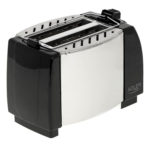 Toaster Adler AD35, 2 felii, 750W, tavita firimituri, buton Stop, negru 4
