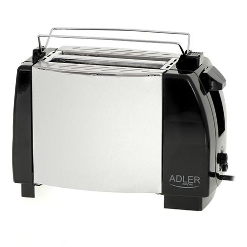 Toaster Adler AD35, 2 felii, 750W, tavita firimituri, buton Stop, negru 1