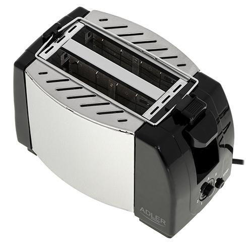 Toaster Adler AD35, 2 felii, 750W, tavita firimituri, buton Stop, negru 2