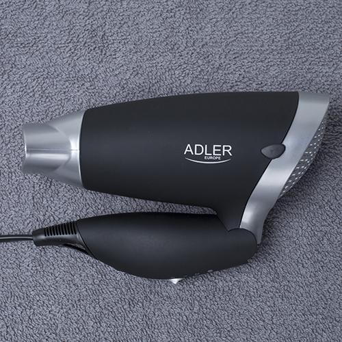 Uscator de par Adler AD 2219, 1250 W, pliabil, Negru/Argintiu 4