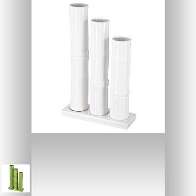 110179  Vaza bambus *3 verde 0