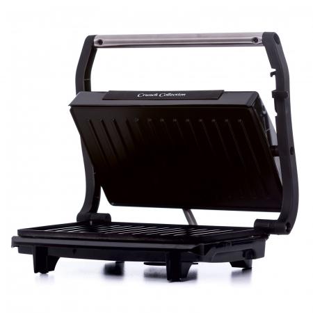 Gratar electric Albatros GT-750, 750 W, placi neaderente tip grill, maner termorezistent cromat, indicator luminos incalzire, negru [1]