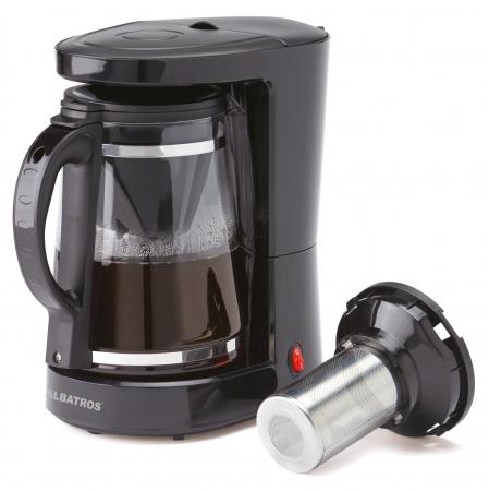 Cafetiera Albatros Dolce 2 in 1, 680 W, 1.2 l, capacitate 10 cesti, infuzor pentru ceai, negru [0]
