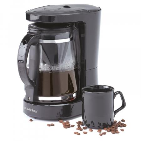 Cafetiera Albatros Dolce 2 in 1, 680 W, 1.2 l, capacitate 10 cesti, infuzor pentru ceai, negru [4]